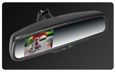 ak 035lap4 r ckspiegel mit 3 5 zoll monitor kamera und einparkhilfe. Black Bedroom Furniture Sets. Home Design Ideas