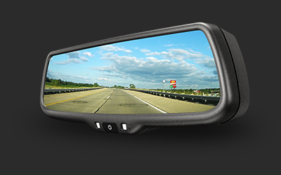 7.3inch ultra high brightbess display rearview mirror with mirrorlink