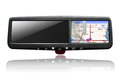 4.3 inch rearview mirror GPS navigation and rear view camera, OM-043RA
