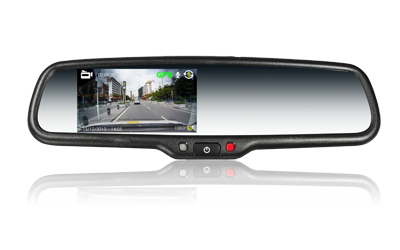 4.3 Inch FULL HD DVR rearview mirror monitor
